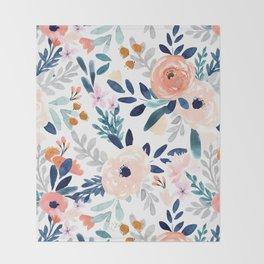 Jolene Floral Throw Blanket