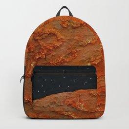 Mars / Mixed Media Painting Backpack