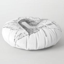Canada Goose on Maple Leaf Floor Pillow