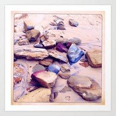 Pumicestone Paint Pallet  Art Print
