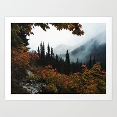 Fall Framed Trail Art Print