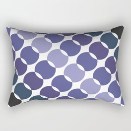 Dark transitioning moons Rectangular Pillow