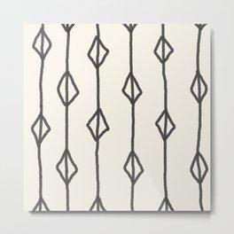Hand-drawn diamond pattern Metal Print