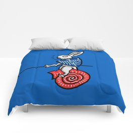 Snail Rider Bunny 2019 Comforters