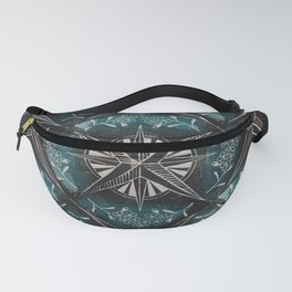 Forget me not compass (blue) Fanny Pack