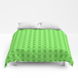 Lime Green Retro Squares Comforters
