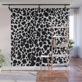 Animal Print Cheetah Black and White Pattern #4 Wall Mural
