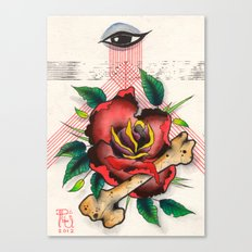 The Eye, The Rose, The Bone Canvas Print