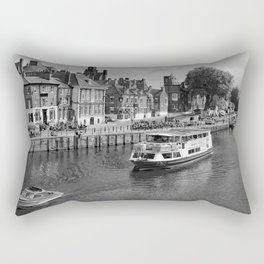 King's Staith beside the river Ouse Rectangular Pillow