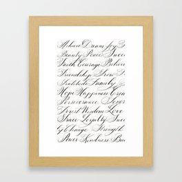 Inspirational Words II Framed Art Print
