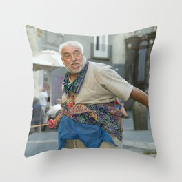 Neapolitan shakespeare Throw Pillow