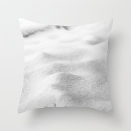 Snow Close up // Winter Landscape Powder Snowing Photography Ski Snowboarder Snowy Vibes Throw Pillow