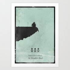 Pirates of the Caribbean 3 - At World's End - minimal poster Art Print