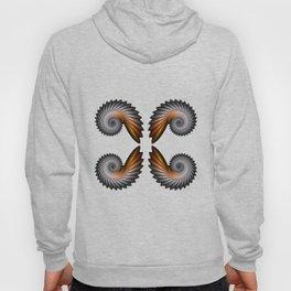 Fractal Art - Silver Spiral 4 Hoody