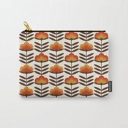 Boogie - retro florals minimal trendy 70s style throwback flower pattern Carry-All Pouch