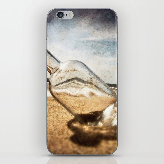 Bottle On Beach II iPhone & iPod Skin