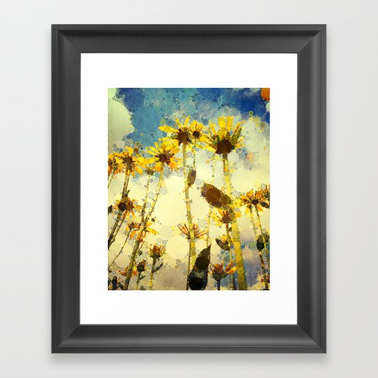 Her Thoughts Were Happy and So Was Her Life Framed Art Print