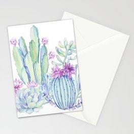 Mixed Cacti White #society6 #buyart Stationery Cards