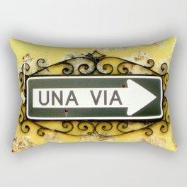 Una Via Rectangular Pillow