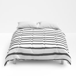 Simply Drawn Stripes in Simply Gray Comforters