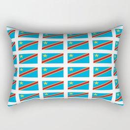 Flag of drc-rdc,congo,congolese,congolais,congolaise,kinshasa Rectangular Pillow