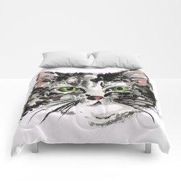 KITTY LOVE Grey kitty Comforters