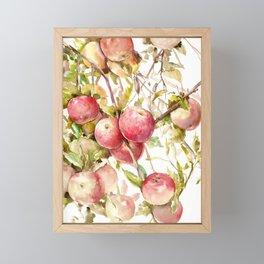 Apple Tree, kitchen design red olive green kitchen fruits Framed Mini Art Print