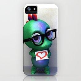 Dino love iPhone Case