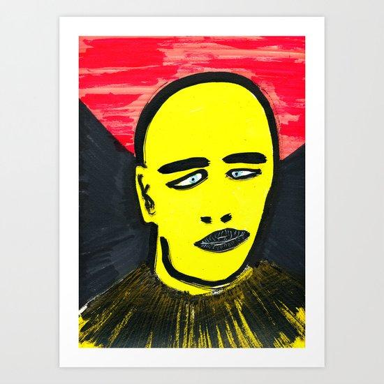 Squinting Art Print