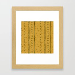 Moroccan Stripe in Mustard Yellow Framed Art Print