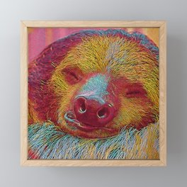 Popular Animals - sleeping Sloth Framed Mini Art Print