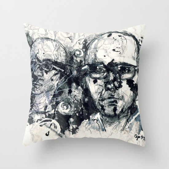 """Destroyed"" by Cap Blackard Throw Pillow"