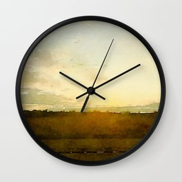 Wide Open Wall Clock