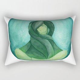 Tear Drop-Turquoise Rectangular Pillow
