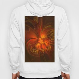 Burning, Abstract Fractal Art With Warmth Hoody