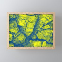 Abstract - in yellow & green Framed Mini Art Print