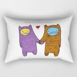 Fuck off. But not too far and only briefly. Rectangular Pillow