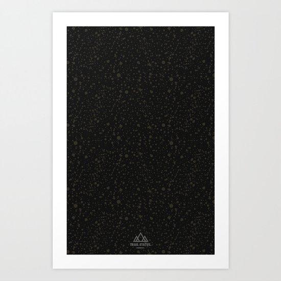 Trail Status / Technical Black Art Print