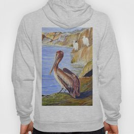 Pelican And Snowy Egrets On A Jetty Hoody