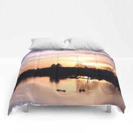 Floodplain at Sunset 4 Comforters
