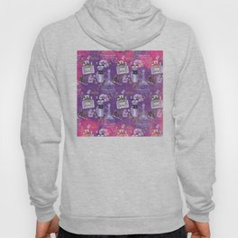 Fashion Victim - Paris France Elegance Shopping Girly in pink and purple Hoody
