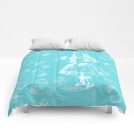 Alice in Wonderland and Jars Comforters