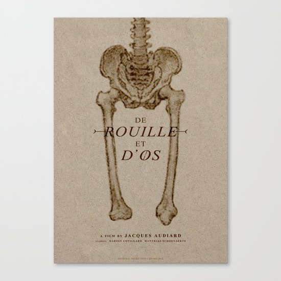 De Rouille Et D'Os - MINIMALIST POSTER Canvas Print