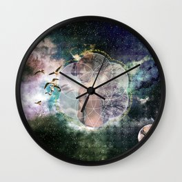 Self Discovery Sacred Geometry Metaphysical Wall Clock