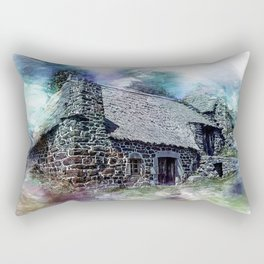 Cottage House Thatch Rectangular Pillow
