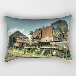 The Old Steam Crane Rectangular Pillow