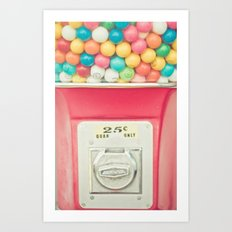 Rainbow Bubblegum Art Print