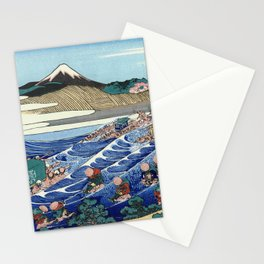 Hokusai -36 views of the Fuji 45 The Fuji from Kanaya on the Tokaido Stationery Cards