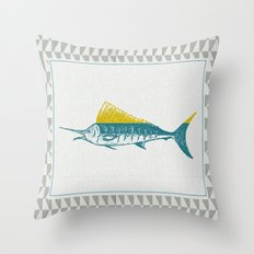The ELusive Punk Fish 2 Throw Pillow