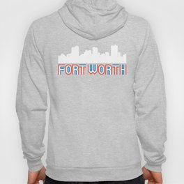 Red White Blue Fort Worth Texas Skyline Hoody